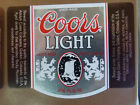 VINTAGE CANADIAN BEER LABEL - MOLSON BREWERY, COORS LIGHT BEER 341 ML