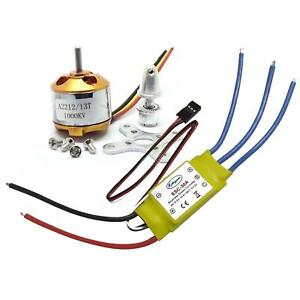 1000KV A2212 Brushless Motor + 30A ESC 3S for DIY RC Airplane Glider Fixed-Wing