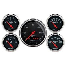 Auto Meter 1450 5 Pc. Gauge Kit GPS Speedometer Designer Black