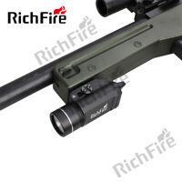 Richfire Gun mount Tactical LED Flashlight Waterproof rail  Rifle Scope outdoor