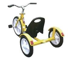 CHOPPER Style Tricycle - Amish Handcrafted Quality in Safety Yellow