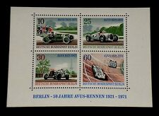 GERMANY, #9N315, 1971, RACING CARS, SOUVENIR SHEET/4,  MNH, NICE! LQQK!