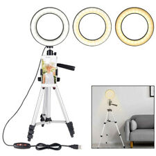 Dimmable LED Studio Camera Ring Light Tripod with Phone Holder