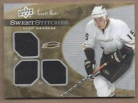 2007-08 Upper Deck Sweet Stitches hockey card jersey Ryan Getzlaf, Anaheim Ducks