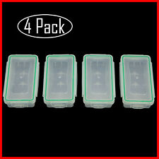 4 Pcs Waterproof Battery Storage Case Holder Organizer for 18650/Cr123A/16340