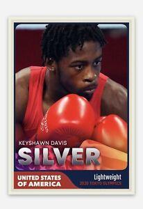 Keyshawn Davis United States USA Boxing 2020 Tokyo Olympics Silver Trading Card