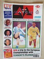 SHEFFIELD WEDNESDAY v LEEDS - ITV SPORT LIVE MATCH MAGAZINE - NO.7 - 12/01/1992