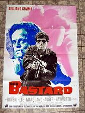 KLAUS KINSKI, GIULIANO GEMMA * Der Bastard - REHAK  - A1-Filmposter -1969