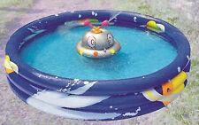 Piscina tonda per gioco bimbi astronave ufo con due spruzzi cm 150*30