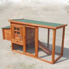 New Stock Chicken Coop Hen house Chook Hutch Run Cage T001s  1580*600*820mm