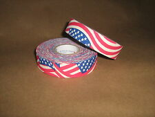 "2 Rolls of Sports Tape Baseball Bat Grip 1""x82' USA Flag"