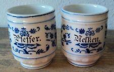 2 antike Vorratsgefäße Keramik Nelken Pfeffer