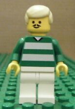LEGO MINIFIGURE– SPORTS – SOCCER – GREEN & WHITE TEAM #9 – GENTLY USED