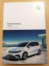 VW TOURAN 2020 Bedienungsanleitung Betriebsanleitung (Ausgabe 11.2019) **NEU**