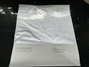 THE WHITE COMPANY 300 THREAD COTTON SATIN FITTED SHEET KING SIZE NEW