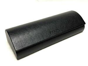 Prada Medium Black Flip Top Clamshell Protective Eyeglasses / Sunglasses Case