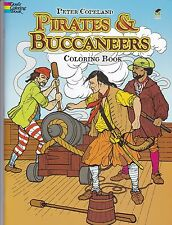 Pirates and Buccaneers Coloring Book- Pirate Colouring Book - NEW