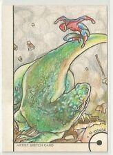 Spider-Man vs. Lizard 2013 Fleer Retro Marvel TANSA Natasha Kourtis Sketch 1/1