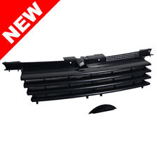 99-05 VW Jetta Bora MK4 Front Euro Black Badgeless Grill w/ Hood Notch Filler