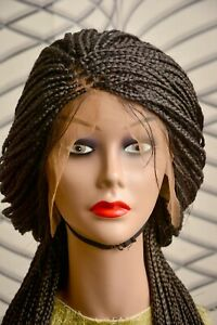 Box Braids Braided Wig With Full Frontal Closure