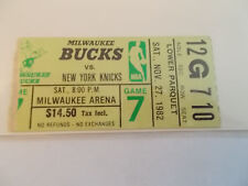 Milwaukee Bucks New York Knicks 11-27-82 Ticket Stub SK3