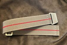 New Diver Elastic Watch Strap Marine Nationale in 20mm - Storm Gray with Red