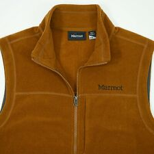 Marmot Men's size MEDIUM M Orange Zip Up Colfax Fleece Vest NEW NWT