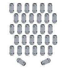 "32pc Chrome Bulge Acorn Lug Nuts | 14x1.5 for Chevy GMC Hummer Trucks | 2"" Tall"