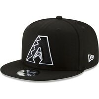 Arizona Diamondbacks New Era 9Fifty Black White Logo Adjustable Snapback Hat Cap