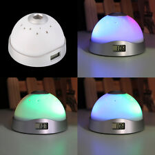 Alarm Clock Digital LED Star Colorful Magic Flash Light Time Projection NYqw