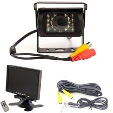 """Rückfahrkamera Aufbau Heck Set mit Nachtsicht 4x IR LED 7"""" TFT Monitor RCA"""