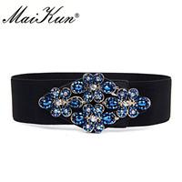 Women Fashion Stretch Buckle Metal Elastic Belt Waist Wide Ladies ML RAMPAGE NEW