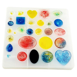 Jewelry Casting Molds,Gem Jewelry Silicone Casting Mold, for Resin Epoxy DIY