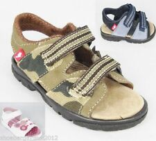 Leather Upper Sandals Hook & Loop Fasteners Shoes for Boys