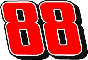 #88 Dale Earnhardt Jr Racing Sticker Decal Various Colors - Small thru XLarge