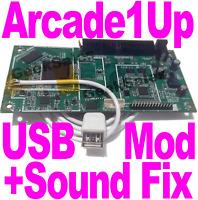 Arcade1Up USB mod service - Fix Sound & add USB Port + UART Pins to your board!