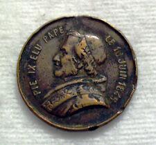 Medaille Vatikan Pius IX (1846–1878) Tod des Papstes 1878 Bronze (t18n436)