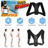 Unisex Adjustable Posture Corrector Back Waist Shoulder Body Support Brace Belt@