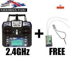 FlySky FS-i6 2.4G 6CH AFHDS RC Transmitter Mode 2 + FREE FS-iA6 Receiver  UK