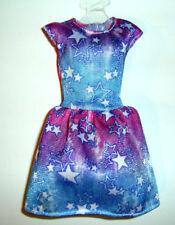 %***Barbie Skipper Kleidung,Kleid mit Sternendruck***%