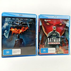 Batman Under The Red Hood + The Dark Knight Blu Ray Trusted AUS Seller Free Post