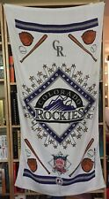 Mlb 1994 Colorado Rockies Bath Beach Towel Collectible Banner