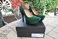 Alexander McQueen Court Shoes Ankle Strap Dark Green BNWB Tags Elevated 5 38