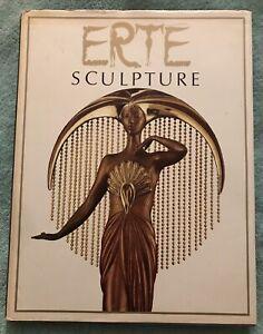 Erte - Sculpture. 1986 First Edition Hardcover Book. Art Deco, Design. Artist