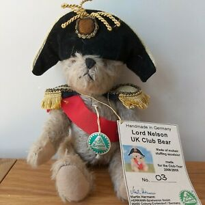 Very Rare Small Hermann  Bear Lord Nelson UK Club Bear Limited Edition Number 03