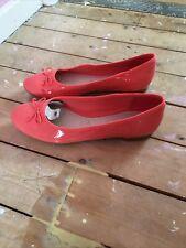 Clarkes Couture Bloom Coral Patent Ballet Pumps Size 6.5