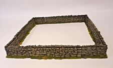 1/32 scale farm accessories resin rustic stone wall set 4 x STRAIGHT 4x CORNERS