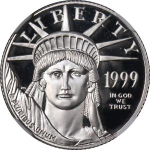 1999-W Platinum American Eagle $25 NGC PF70 Ultra Cameo STOCK