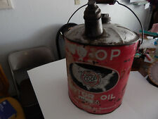 Vintage COOP Motor Oil 5 Gallon Can