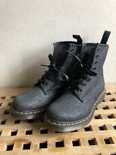 Womens 1460 Pascal Black Glitter Dr Martens Boots Size Uk 6